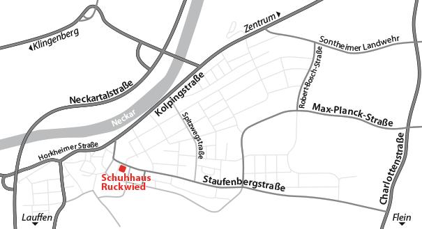 Anfahrt Schuhhaus Ruckwied 2