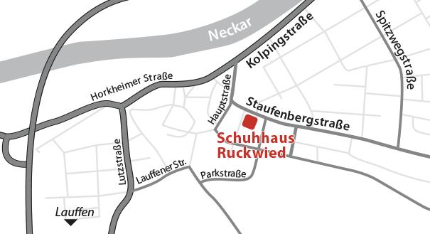 Anfahrt Schuhhaus Ruckwied 1